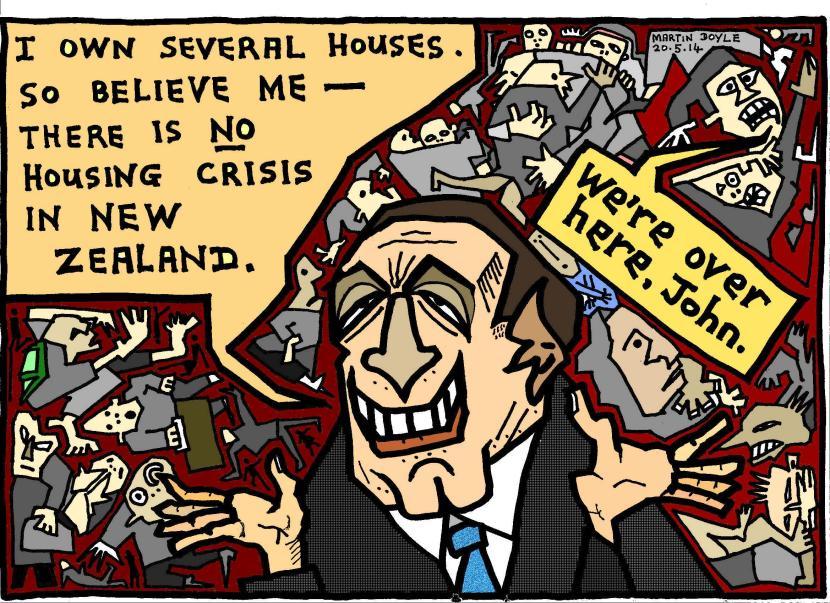 Scoop cartoon housing crisis